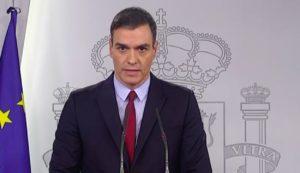 Pedro Sánchez al decretar el confinamiento